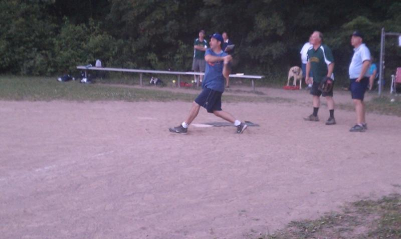 Dave Corbelli at the plate for the Americans